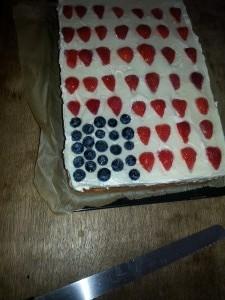 Flagcake für Bridal Shower